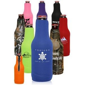 Neoprene Zippered Beer Bottle Coolies